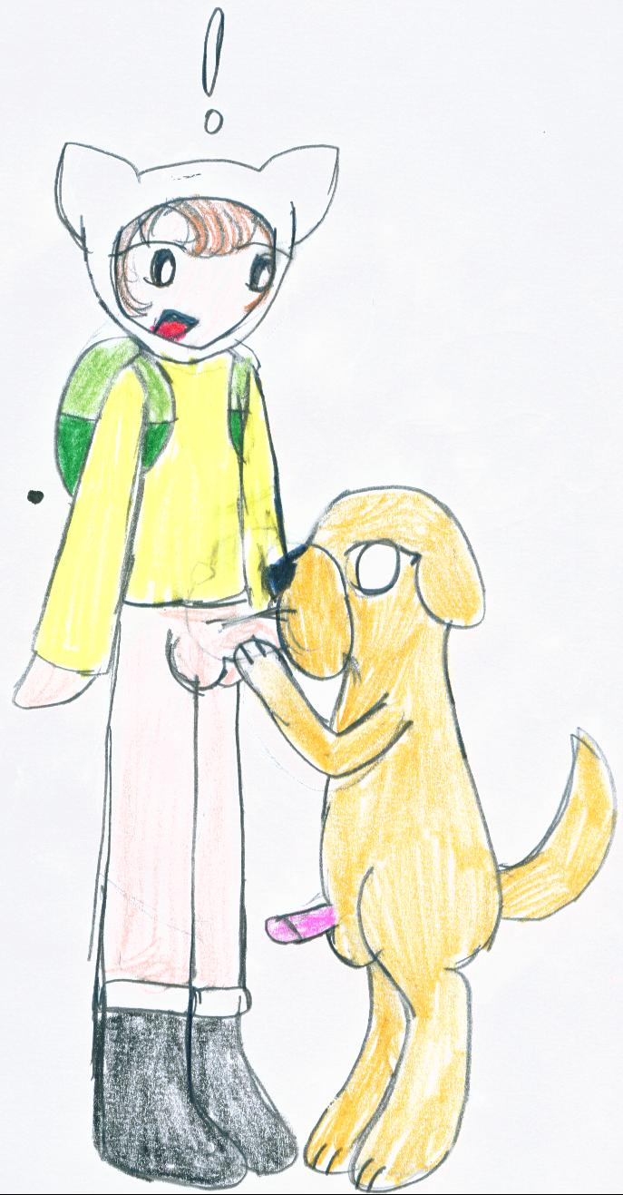 dog art pixel the jake Newton to ringo no ki cg
