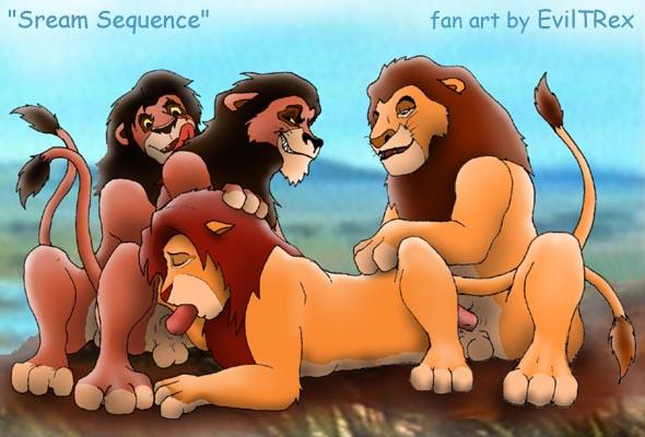 lion and kopa kion king Dorei to no seikatsu feeling