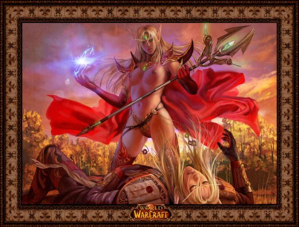 elf world of blood female warcraft Princess leia metal bikini wardrobe malfunction