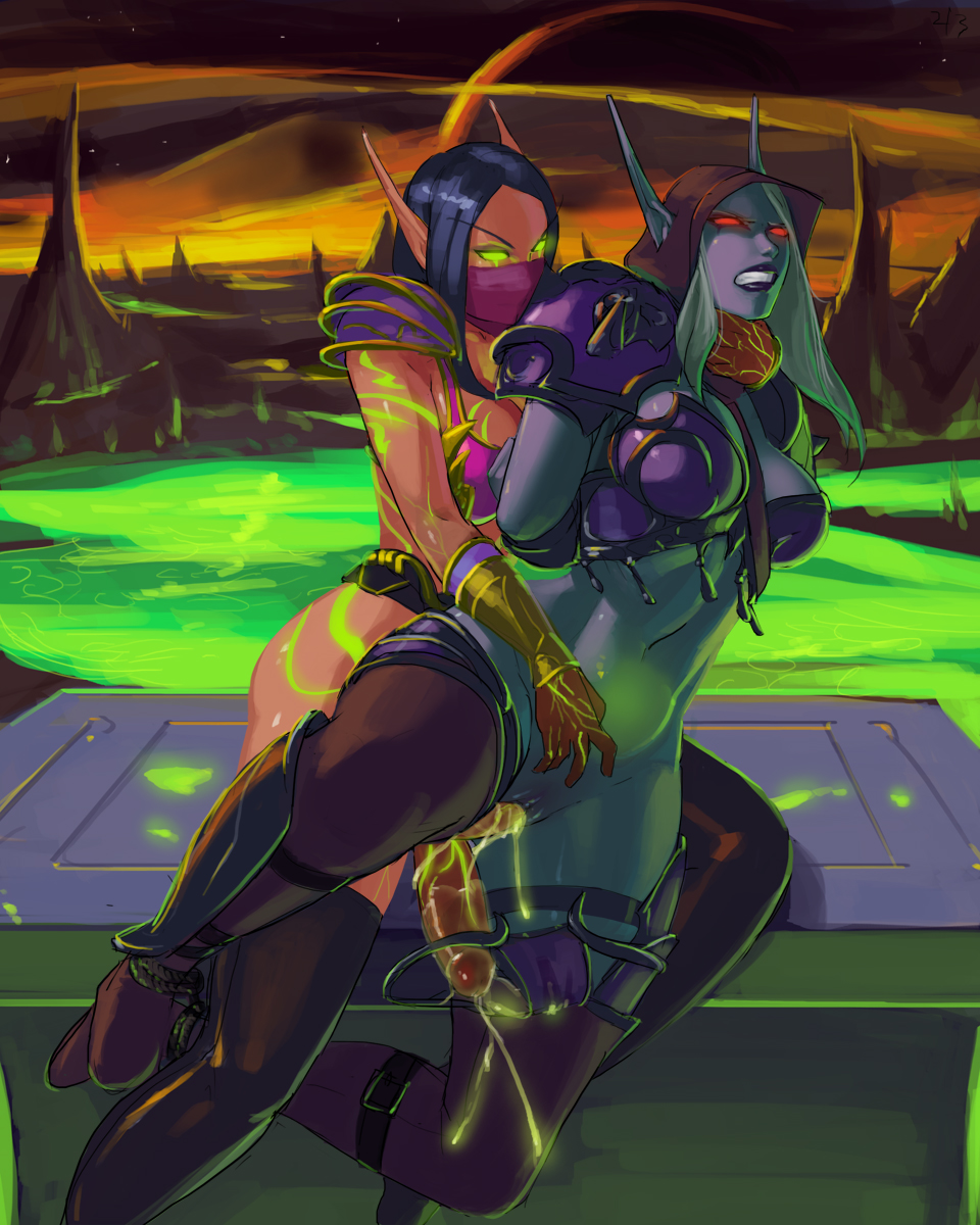 world warcraft female blood elf of Boku no hero academia momo yaoyorozu