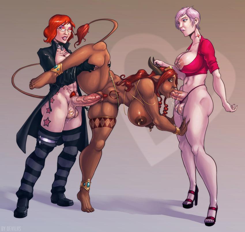 naked thigh highs in girls Baiken guilty gear xrd rev 2