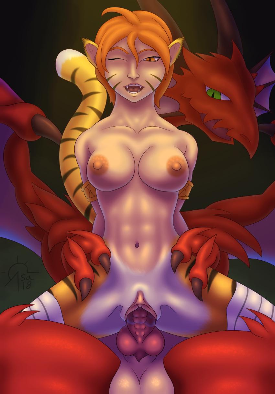 fire quarter breath dragon - of Ouji to warawanai neko hentai