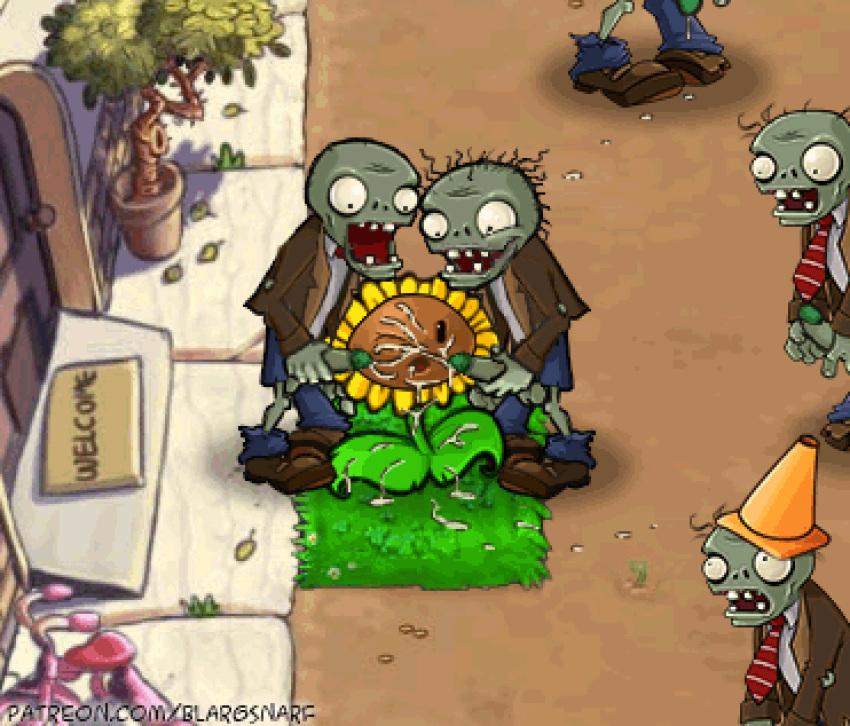 videos vs plants zombie 2 Cum on soles of feet